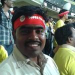 Rajesh at M A. Chidambaram Stadium.