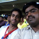 Rajesh and Sathya at M A. Chidambaram Stadium.
