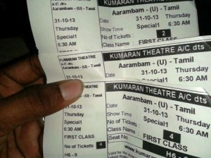 First day first show at 6.30 to arrambam movie